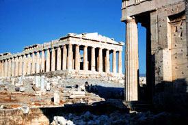 The Parthenon on Acropolis Athens Greece
