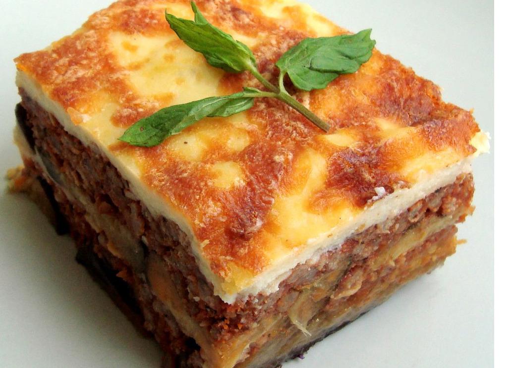Traditional Mousaka Greek Mediterranean food
